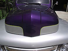pinstriping on nose of truck